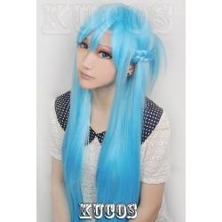 Sword Art Online SAO Yuuki Asuna blaue Cosplay Perücke wig