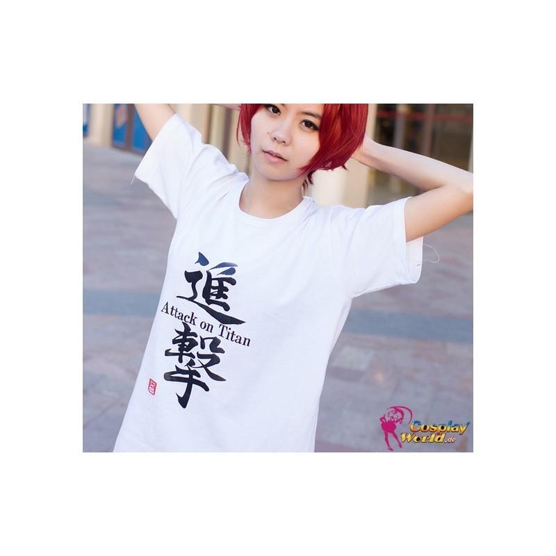 Shingeki no Kyojin Attack on Titan Anime Manga T-Shirt Weiß Kostüme Baumwolle