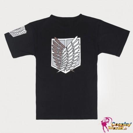 T-Shirt Shingeki no Kyojin Attack on Titan cool schwarz cosplay Kostüm Anime Manga