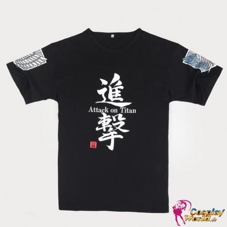 Anime Manga Shingeki no Kyojin Attack on Titan cosplay Kostüm cool schwarze T-Shirt