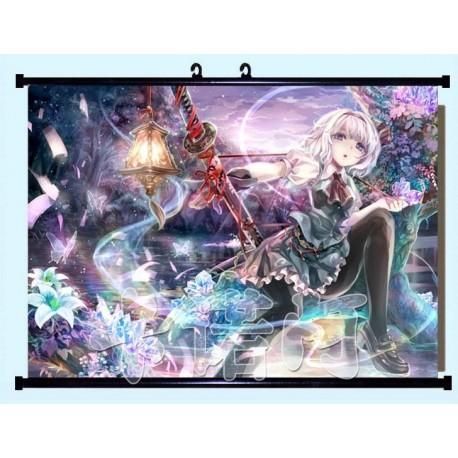 Touhou Project Youmu Konpaku Anime Stoffposter Wallscroll Poster Wallscrolls