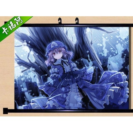 Touhou Project Saigyouji Yuyuko Anime Stoffposter Wallscroll Poster Wallscrolls