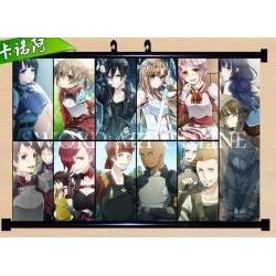 Sword Art Online Asuna Kirito Anime Stoffposter Wallscroll Poster Wallscrolls