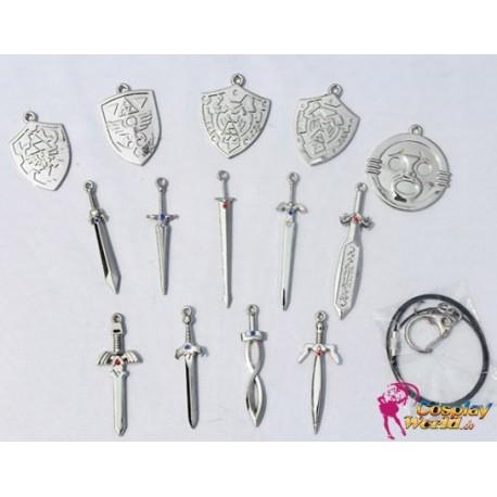 16 Stück Halskette the Legend of Zelda Cosplay Accessoire Set