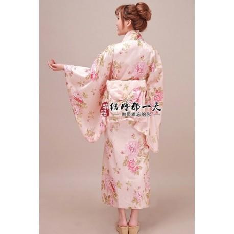 Kimono Yukata Furisode Geisha Kimono Bademantel Satin Kimono
