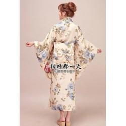 Kimono Yukata Furisode Geisha Satin Kimono japanischer Kimono