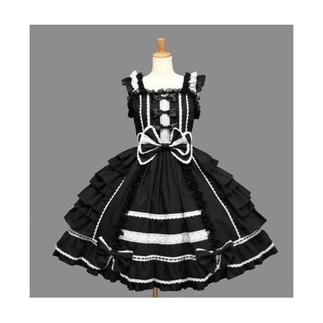 Chiffon Kawaii Prinzessin Lolita Spitze Cosplay Kleid tQdhCsr