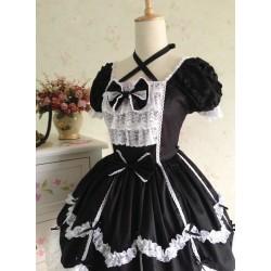 Lolita Kleid Gothic Vintage Spitze Prinzessin Kleid Cosplay Kostüme