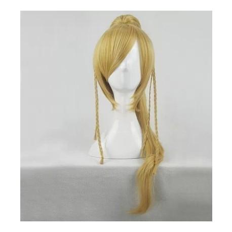 Final Fantasy Rikku blonde Cosplay Perücke