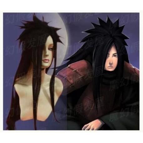 Naruto Uchiha Madara schwarze Cosplay Perücke