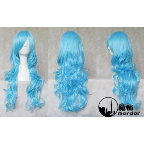 Macross Frionter Sherly Nome blaue locken Cosplay Perücke