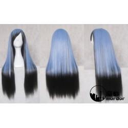 Nurarihyon no Mago Nura Rihyon blaue schwarze Cosplay Perücke