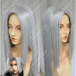 Lucaille®-Final Fantasy Perücke Cosplay Sephiroth silberngraue Perücke