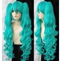 Lucaille® Vocaloid Perücke Cospaly Magnet grüne locken Perücke