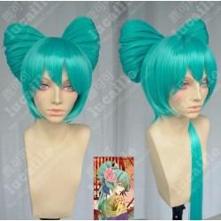 Lucaille® Vocaloid Perücke Cospaly Miku grüne Perücke
