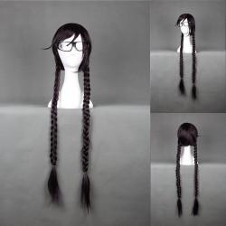Danganronpa 2 Toko Fukawa braune Cosplay Perücke Geflochtene Haare