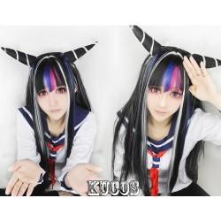 Danganronpa Cosplay Perücke Mioda Ibuki scharze Game Haare
