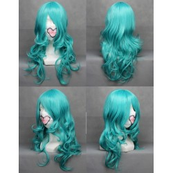 Sailor Moon Kaiou Michiru hellblaue locken Cosplay Perücke
