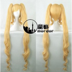Rozen Maiden Shinku Pure Ruby gelbe blonde locken Cosplay Perücke