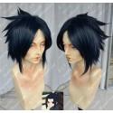Lucaille®-Naruto Perücke Cosplay Uchiha Sasuke schwarze Perücke