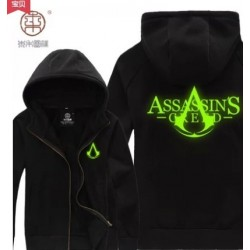 Assassin's Creed 3 Connor Kenway Hoodie Leuchtende Dünne Sweatshirt Cosplay Kostüme
