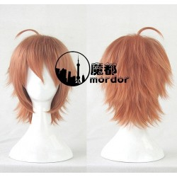 Danganronpa Makoto Naegi orange Cosplay Perücke Game Haare