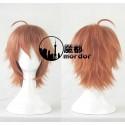Danganronpa Makoto Naegi orange Cosplay Perücke Game Haare