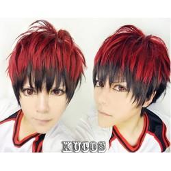 Kuroko no Basketball Kagami Taiga rote, schwarze Cosplay Perücke