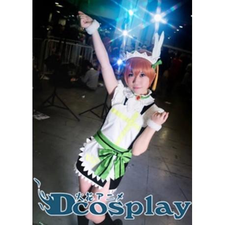 Love Live Hoshizora Rin Cosplay Kostüme, Maid kostüme auf maß