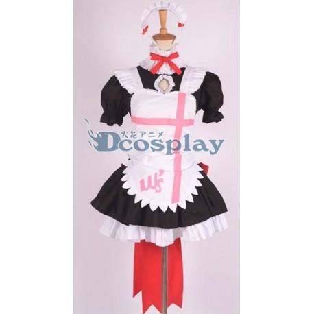Love Live Kousaka Honoka Cosplay Kostüme, Maid kostüme auf maß