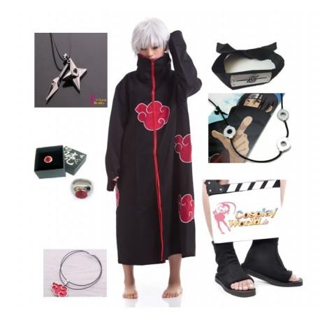 NARUTO Uchiha Itachi Cosplay Kostüme Komplett Deluxe Set