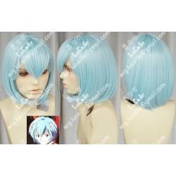Lucaille® EVA Neon Genesis Evangelion Perücke Cospaly Ayanami Rei hellblaue Perücke