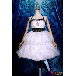 Vocaloid Hatsune Miku weißes kurzes Kleid Cosplay Kostüm Deluxe