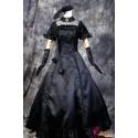 Vocaloid Hatsune Miku Lolita Cosplay elegantes schwarzes Kleid Cosplay Kostüme