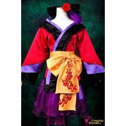 Vocaloid Ruka Projekt Diva 2 Lolita Kurtisane Kimono Cosplay Kostüme Deluxe