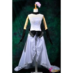Vocaloid Megurine Ruka elegantes weißes langes Kleid Cosplay Kostüm