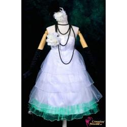 Vocaloid Miku Cosplay Loita weißes Kleid Cosplay Kostüme