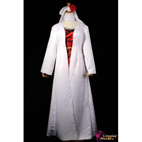 Vocaloid Kagamine Rin Lolita Cosplay Kostüme weißen Gewand rotes Kleid