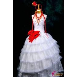 Vocaloid Luka Cosplay Lolita Fantasia wunderschönes weißes Kleid Cosplay Kostüm