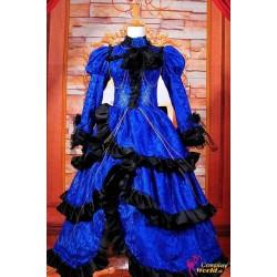 Vocaloid Kagamine Rin Lovelessxxx Lolita blaues Kleid Cosplay Kostüme