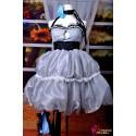 Vocaloid Miku Cosplay silbergraues kurzes Kleid Cosplay Kostüme