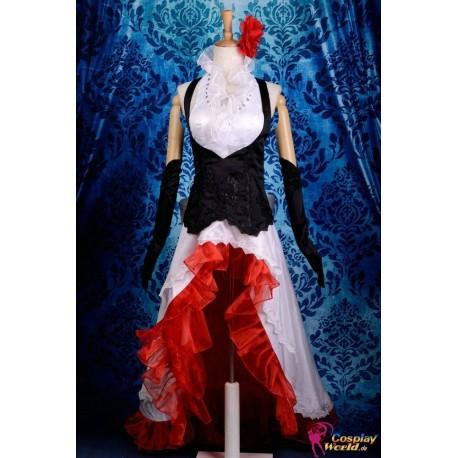 Vocaloid Meiko eleganten weißen Kleid Cosplay Kostüm