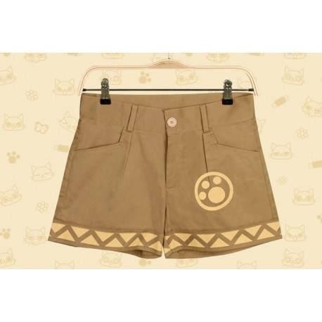 Monster Hunter Kostüme Cat Airou Shorts braune Hose