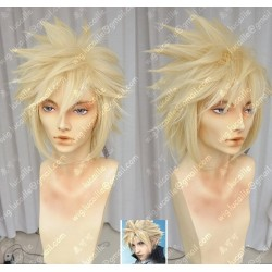 Lucaille®-Final Fantasy 7 Perücke Cosplay Cloud Strife hellblonde Perücke