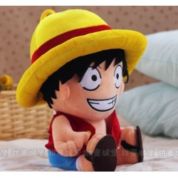 One Piece Monkey D Luffy Plüsch Puppe ANIME Stofftier 35 cm
