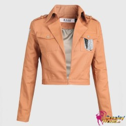 Jacke Jäckchen Eren Jaeger Survey Corps Blau Logo Cosplay Shingeki no Kyojin Attack on Titan