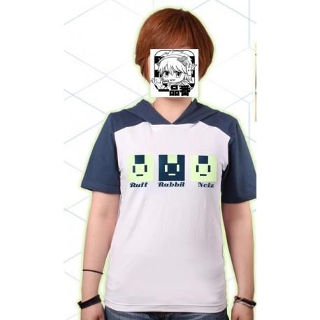 DRAMAtical Murder N+C DMMD Noiz Hasenohren T-Shirt Cosplay Kostüme