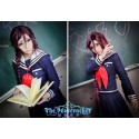 Danganronpa Toko Fukawa Cosplay Kostüme Schule Uniform auf Maß