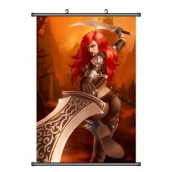 LOL, League of Legends Caitlyn Anime Stoffposter Wallscroll Poster Wallscrolls