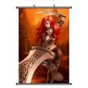 LOL, League of Legends Caitlyn Anime Stoffposter Wallscroll Poster Wallscrolls